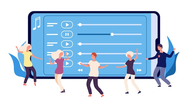 Flat dancers y playlist de música online