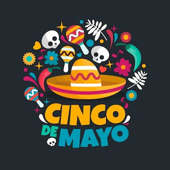 Flat design cinco de mayo wallpaper