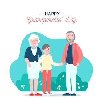 Flat día nacional de los abuelos usa