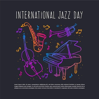Flat international jazz day