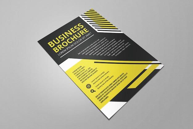 Flayer de negocios amarillo plano