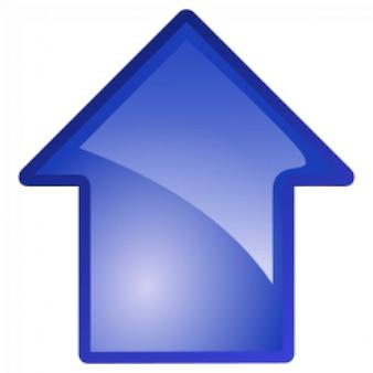 Flecha azul hacia arriba