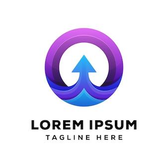 Flecha circular, concepto de logo de letra o flecha