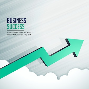 Flecha de crecimiento de éxito empresarial avanzando rápidamente