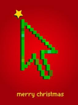 Flecha con forma de árbol de navidad - tema del concepto de crecimiento empresarial. ilustración