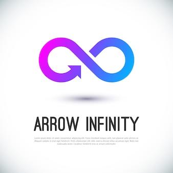 Flecha infinito negocio vector logo