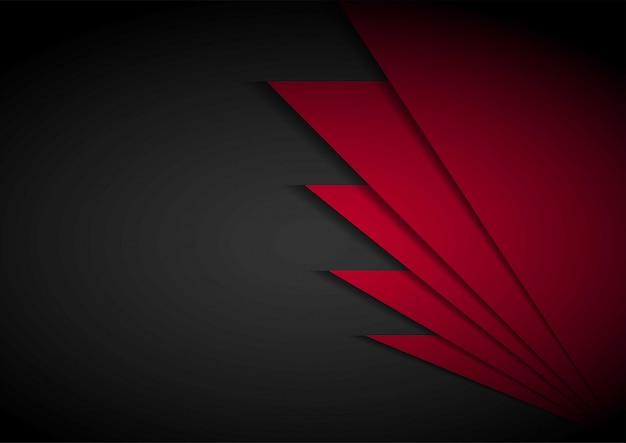 Flecha de luz roja negra con fondo de malla ondulada