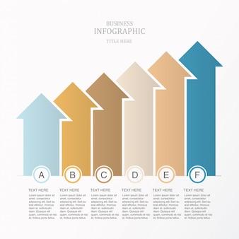 Flecha moderna elemento infografía para el concepto de negocio.