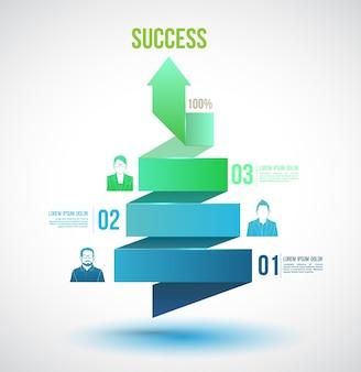 Flecha torcer hasta opciones de número de éxito.