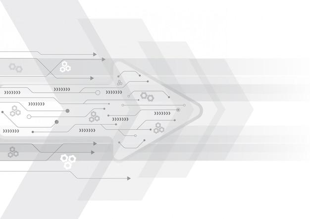 Flecha velocidad fondo y datos de tecnología carga diseño abstracto vector