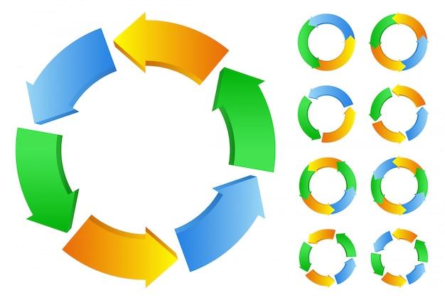 Flechas circulares