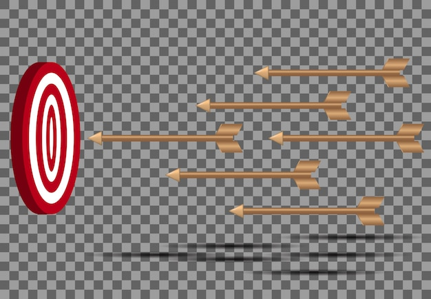 Flechas de destino tiro fallido tiro con arco objetivo
