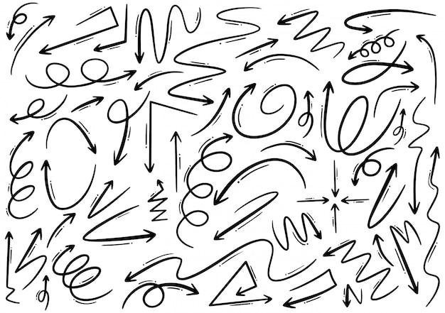 Flechas dibujadas a mano