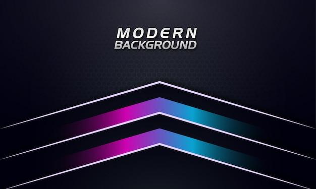 Flechas de gradiente de color púrpura y azul hacia arriba sobre fondo oscuro