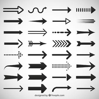 Flechas iconos conjunto