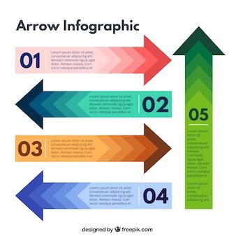 Las flechas de infografía