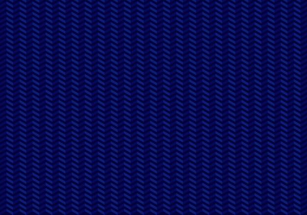 Flechas de patrones sin fisuras zig zag sobre fondo azul.
