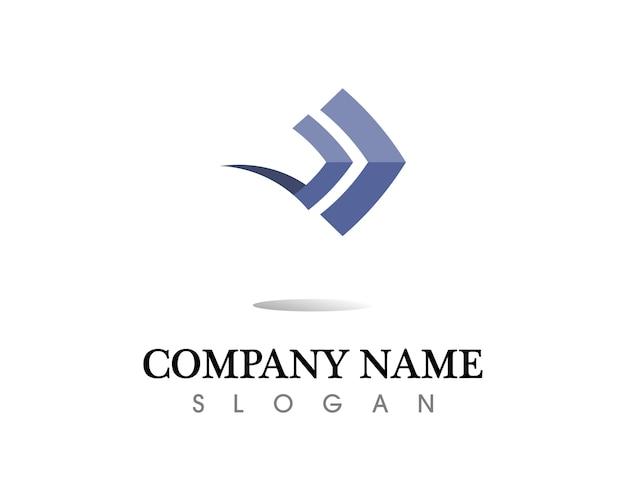 Las flechas vector ilustración icono logo plantilla de diseño