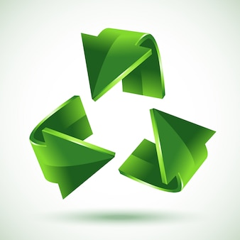 Flechas verdes de reciclaje