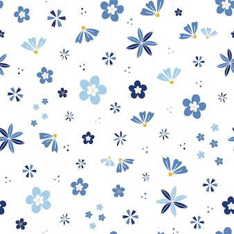Flor azul jardín de flores