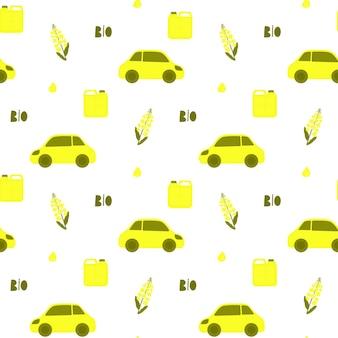 Flor de canola. planta y aceite de colza. transporte ecológico. biodiesel.