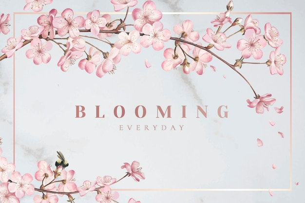 Flor de cerezo marco