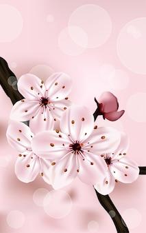 Flor de cerezo rosa.
