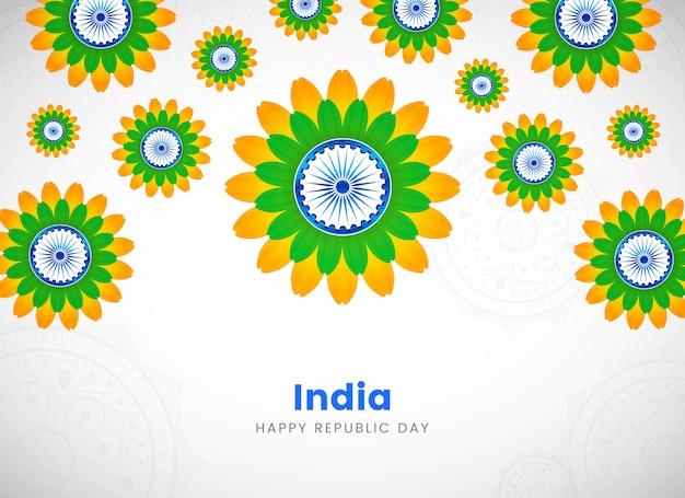 Flor creativa del día de la república de la india