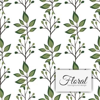 Flor de estilo vintage de patrones sin fisuras