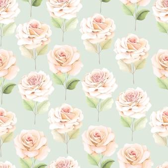 Flor dibujada a mano de patrones sin fisuras