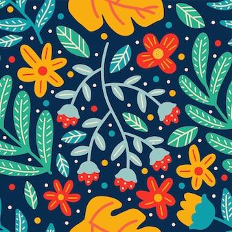 Flor doodle de patrones sin fisuras