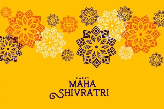 Flor de estilo étnico maha shivratri feliz
