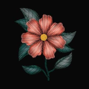 Flor de geranio colorido