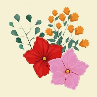 Flor de geranio decorativa