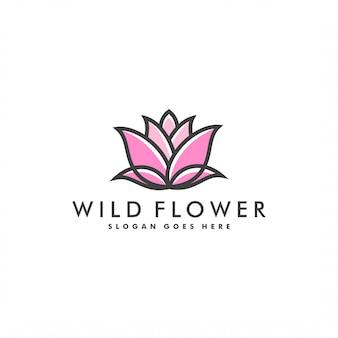 Flor logo plantilla diseño logo vector