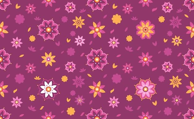 Flor de loto de fondo sin fisuras patrón