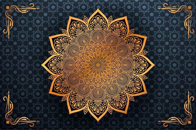 Flor de lujo mandala fondo estilo arabesco