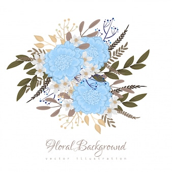 Flor de luz azul clipart