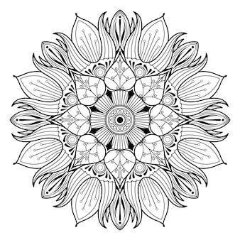 Flor mandala vintage elementos decorativos