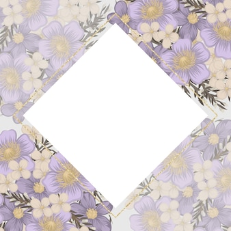 Flor morada sobre fondo blanco