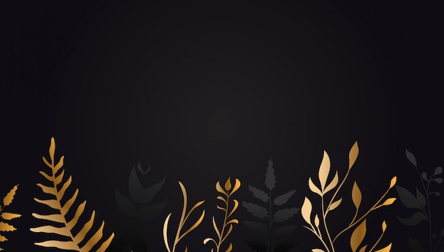Flor de oro sobre fondo negro
