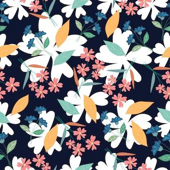Flor de patrones sin fisuras flor