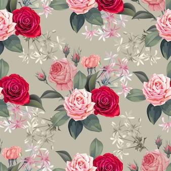 Flor de patrones sin fisuras - vector