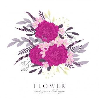 Flor rosada del clipart