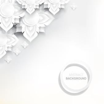 Flor tailandesa blanca abstracta en el fondo blanco.