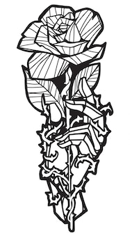 Flor de tatuaje en la mano