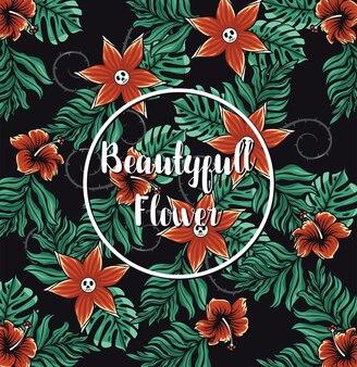 Flor tropical de patrones sin fisuras