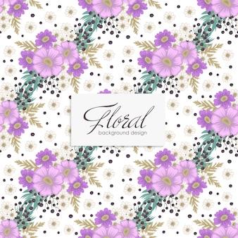 Flor veolet flores sin costura