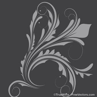Flora y fauna elemento de diseño vectorial