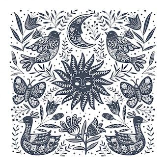 Flora y fauna escandinava